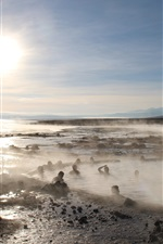 Preview iPhone wallpaper Uyuni salt lake, sun, hot springs, Japan