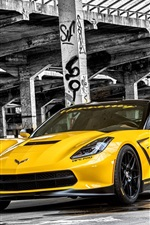 2015 Chevrolet Corvette, Stingray HPE700 C7 yellow supercar