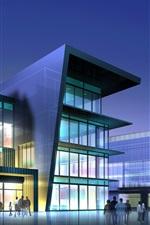 edifícios comerciais modernos 3D