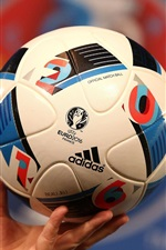 Preview iPhone wallpaper Adidas football for UEFA EURO 2016, France