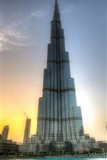 Preview iPhone wallpaper Amazing buildings, Burj Khalifa, Dubai, sunset