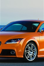 Preview iPhone wallpaper Audi TT Coupe, orange color