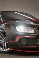 Preview iPhone wallpaper Audi black tuning cars