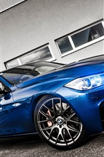 Preview iPhone wallpaper BMW blue car front view, light