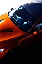 BMW orange supercar top view