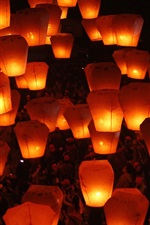Preview iPhone wallpaper Beautiful sky, Lantern Festival, warm light