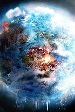 Belas universo, terra, lua, flores, criativo