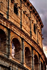 Preview iPhone wallpaper Colosseum, Rome, Italy, clouds, dusk