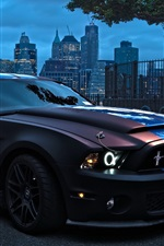 Preview iPhone wallpaper Ford Mustang 5.0L car at city night