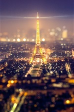 Preview iPhone wallpaper France, Paris, city, Eiffel Tower, lights, beautiful night