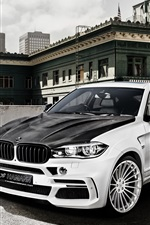 Preview iPhone wallpaper Hamann BMW X6M F16 car, black white crossover