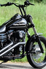 Preview iPhone wallpaper Harley-Davidson Chopper black motorcycle
