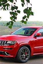 Jeep Grand Cherokee red SUV