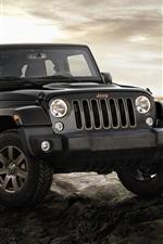 iPhone fondos de pantalla Jeep Wrangler, coche negro