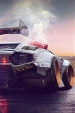 iPhone fondos de pantalla Lamborghini Concept vista posterior superdeportivo, el motor súper