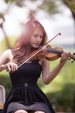 Preview iPhone wallpaper Music girl, Asian, violin