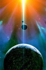 미리보기 iPhone 배경 화면 성운, 우주, 행성, 위성, 눈부심 빛