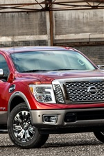 Preview iPhone wallpaper Nissan Titan red pickup