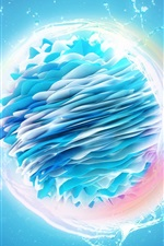 Preview iPhone wallpaper Render water ball, spray, abstract design