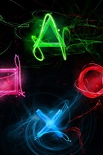 Preview iPhone wallpaper Sony Playstation creative logo, colorful colors