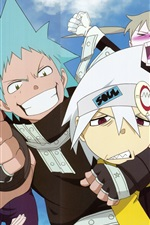 Preview iPhone wallpaper Soul Eater, anime, cartoon