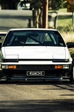 Preview iPhone wallpaper Toyota AE86 cars front view