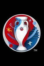 Preview iPhone wallpaper UEFA EURO 2016 France logo, black background