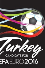 Preview iPhone wallpaper UEFA EURO 2016, Turkey, football, colorful