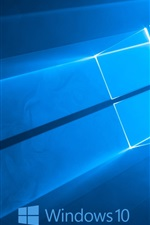 Logotipo do Windows 10 do sistema, fundo azul estilo
