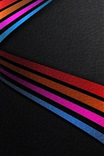 sistema Windows 10, listras do arco-íris de fundo