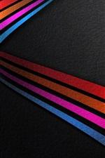 Windows 10 system, rainbow stripes background