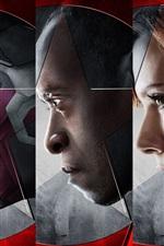 iPhone обои 2016 Капитан Америка: Гражданская война, супер героев