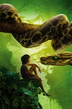Preview iPhone wallpaper 2016 The Jungle Book, boy and snake