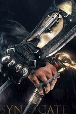 Preview iPhone wallpaper Assassin's Creed: Syndicate, killer, knife, rain