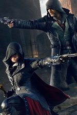 Preview iPhone wallpaper Assassin's Creed: Syndicate, killer together