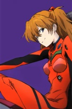 Preview iPhone wallpaper Asuka Langley Soryu, Neon Genesis Evangelion