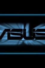 logotipo da Asus, fundo preto