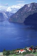 Preview iPhone wallpaper Aurlandsfjord, Sogn og Fjordane county, Norway
