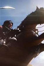 Preview iPhone wallpaper Battlefield 1, horse jump