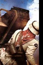 Preview iPhone wallpaper Battlefield 1, tank