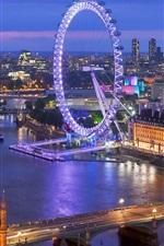 미리보기 iPhone 배경 화면 아름다운 런던의 야경, 스카이 라인, 강, 다리, 조명, 건물, 영국