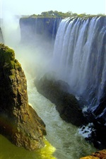 Preview iPhone wallpaper Beautiful waterfalls, Victoria Falls, Livingstone, Africa