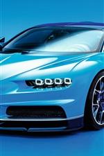 Bugatti Chiron blue supercar