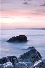 Preview iPhone wallpaper Chesil Beach, coast, rocks, Portland, Dorset, England, UK