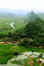 Preview iPhone wallpaper China tourist attractions, Guilin, Yangshuo views