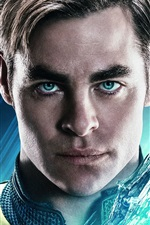 Preview iPhone wallpaper Chris Pine as Kirk, Star Trek Beyond