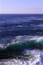 Preview iPhone wallpaper Cliffs and ocean, waves, Royal National Park, New South Wales, Australia