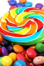 Preview iPhone wallpaper Colorful candy, sweet food