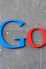 미리보기 iPhone 배경 화면 화려한 구글 로고, 벽 배경