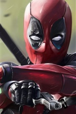 Preview iPhone wallpaper Deadpool 2016, art pictures